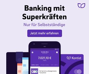 Kontist Geschäfstkonto - Banking mit Superkräften. Nur für Selbstständige. Jetzt mehr erfahren.