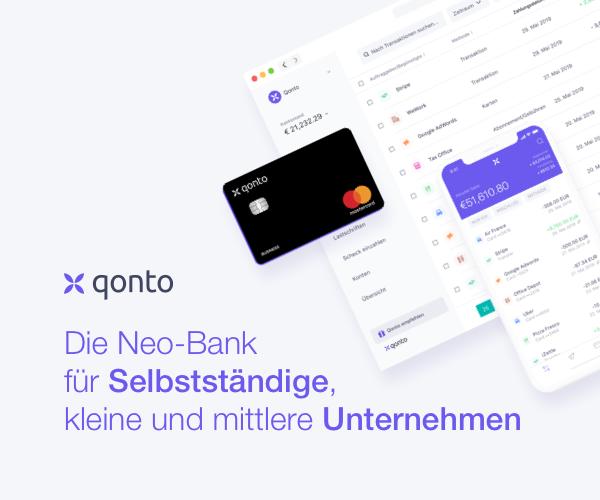 Qonto Geschäfstkonto - Die Neo-Bank für Selbstständige, kleine und mittlere Unternehmen